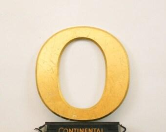 Vintage Shop letter O, 24 carat gold leaf, antique signage College