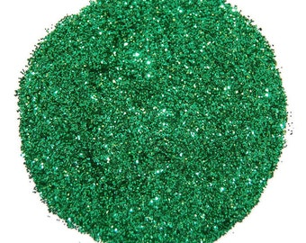 Lime Green SOLVENT RESISTANT Glitter 0.015 Hex - 1 Fl. Ounce for Glitter Nail Art, Glitter Nail Polish & Glitter Crafts