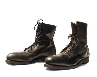 Make An Offer 12 | ALTIMA Steel Toe Military Boots Black Leather Combat Boots