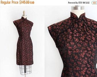 SUMMER SALE vintage 1950s dress // 50s Cheongsam style wiggle dress