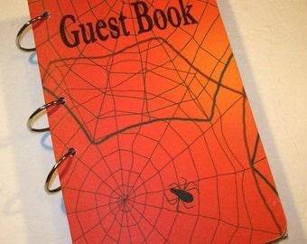 Spider Birthday, Spider Birthday Guest Book, Spider Party, Spiderman Inspired Birthday,  Party Sign in Book, Superhero Birthday Guest Book