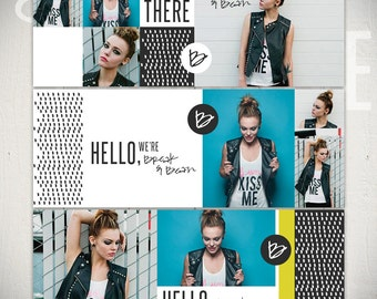 Facebook Timeline Cover Templates: Friendly Wave - 3 Facebook Covers