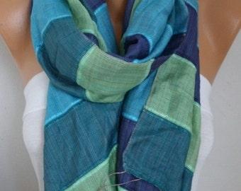 Blue Tones Silk Cotton Shawl Scarf,Fall Winter Scarf,Bohemian,Bridal,Wedding,Gift Ideas For Women,Christmas,Casual,Formal,women scarves