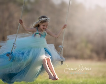 Lillian Dress ~ Fully lined Tulle Dress, Custom Colors and design, Perfect for weddings, parties and photo shoots
