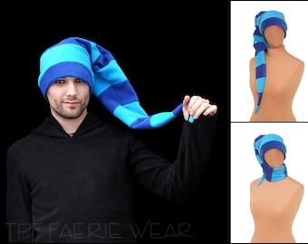 2 tone 12 stripe fleece Positively pixie hat