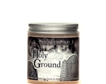 Holy Ground 4oz dirt and sandalwood scented soy candle