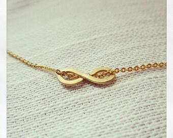 Tiny Gold Infinity Necklace