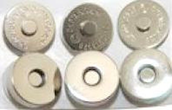 Silver Magnetic Snaps,Large Magnetic Snaps,Purse Magnetic Snaps,Magnetic Snap Supplies