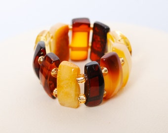 New genuine Baltic Amber ring, size 6 adjustable (1)