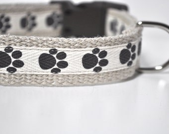Hemp Webbing Dog Collar  - 'Soft Paws'  - 50% Profits to Dog Rescue