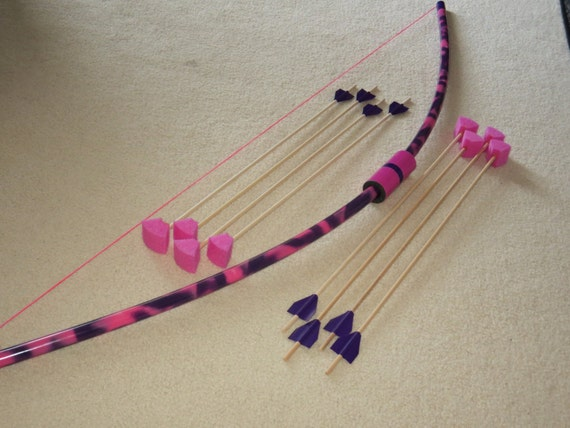 Items similar to longbow toy and 8 arrows pvc archery for Kids pvc bow