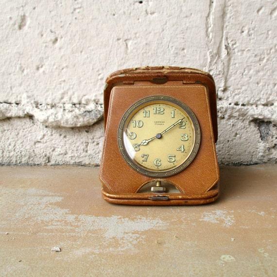 Grenad Travel Clock Swiss Made Eight Day Six Jewel Clock