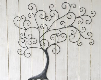Family Tree Wall Decor metal tree wall art | etsy
