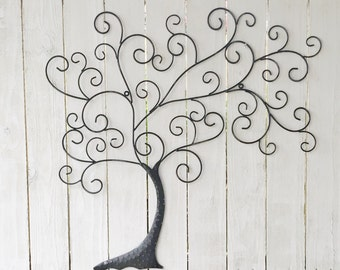 Metal Wall Art, Metal Wall Decor, Metal Tree Wall Art, Tree Decor, Black  Tree Wall Decor, Tree Wall Art, Tree of Life, Family Tree of Life