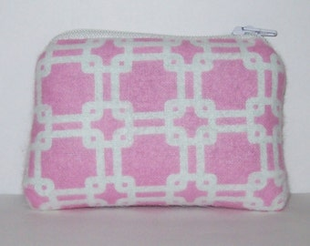 """Mini Pipe Pouch, Pink Pipe Bag, Glass Pipe Case, Mini Pouch, Padded Pouch, Cute Pouch, Smoke 420 Bag, Light Pink Bag, Pipe Pouch - 4"""" MINI"""