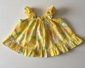 Vintage 80's Hawaiian Dress Swing Top (18 months)