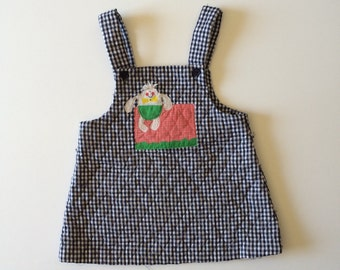 1980's Humpty Dumpty Quilted Jumper (3t)