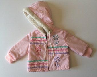 1980s Pastel Flower Sears Coat (18/24 months)