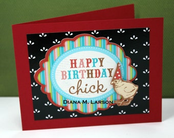 Happy  Birthday Chick  -- blank inside
