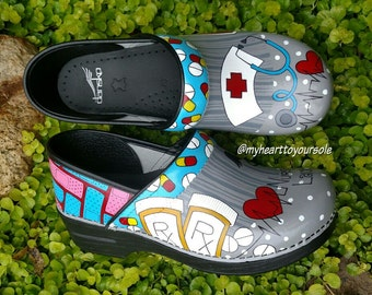 Painted Dansko Clogs