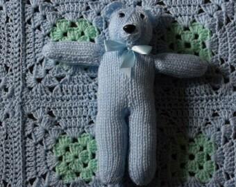 Baby Boy Blanket & Teddy Bear
