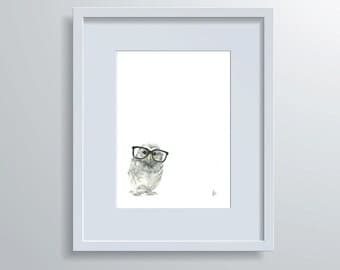 """Animal Baby """"Wise Owl"""" - Hand-drawn Illustrations"""