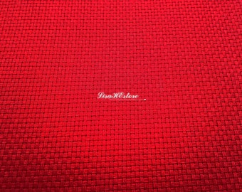 Red, for hand embroidery, 18 counts, 1/2 yard, pure cotton fabric