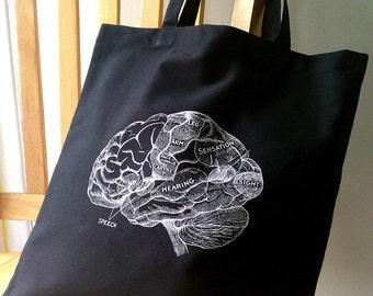 Brain Canvas Tote Bag