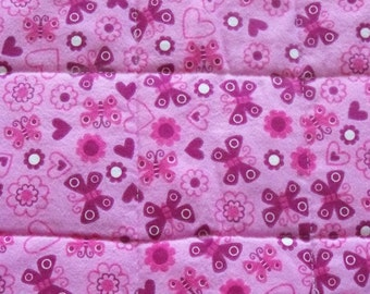 SALE! Pink Butterfly Quilted Pet Mat