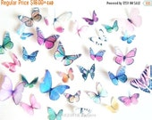 SALE Cake Cupcake Toppers Wedding Cake Topper and Decorations - Edible Butterflies for Cakes -  Assorted Edible Cake Decorations -  Butterfl