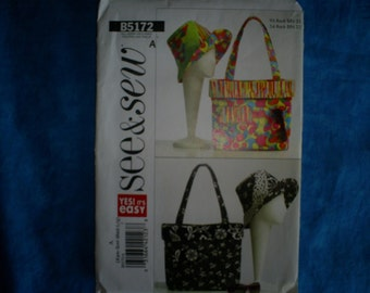 Butterick 5172 See and Sew Hat and Bag.