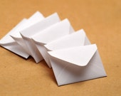 Tiny White Envelopes, Set of 10, Embellishment, Love Note, Decoration, Collage, Paper Projects, Journaling, Planners
