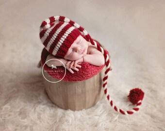 baby christmas stocking hat - baby winter stocking hat - christmas baby shower gift - baby stocking hat - baby boy  stocking hat