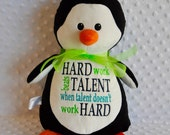 Personalized Baby Gift Penguin  Personalized Stuffed Animal, Penguin, Personalized Penguin Stuffie Lamb Keepsake Bunny Cubbies Baptism