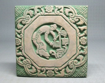 moravian pottery tile 1995