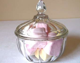 French Vintage Delicate fluted glass candy - candy box - Sweets