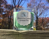 Natural Soy Candle, Christmas Tree Scent, Pine Scented
