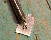 Coffee Mug Stamp, Beaducation Brand Design Stamp, Latte, Cappuccino DIY Metal Stamped Jewlery Tools, Supplies, Metalworking, Metal