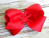 Red Boutique Hair Bow - Extra Large Red Hair Bow - Extra Large Boutique Bow - Extra Large Red Bow