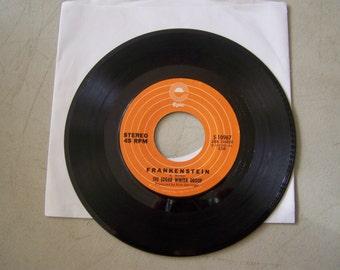 "Vintage 1970's 45 rpm vinyl Record ""Frankenstein"" By The Edgar Winter Group"