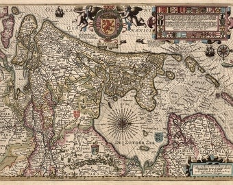 1622 Map of Holland
