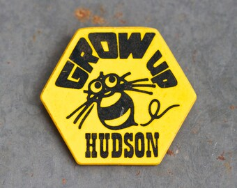 Yellow and Black Bumblebee Lapel Pin - Grow Up Hudson Badge