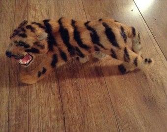 Vintage Collectible Miniature Fur Tiger