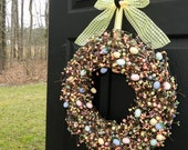 Spring Wreath - Easter Egg Wreath - Easter Wreath-