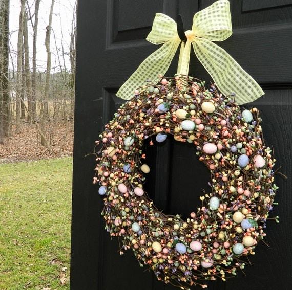 Spring Wreath - Easter Egg Wreath - Easter Wreath-