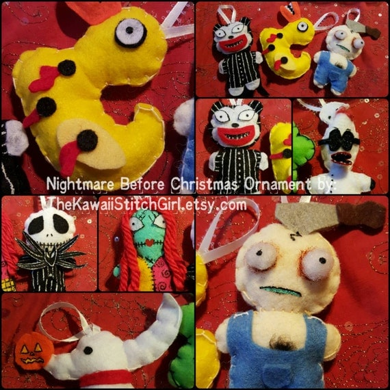 12 Nightmare Before Christmas Ornament Set
