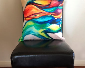 Multicoloured abstract cushion cover