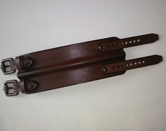 leather cuff wristband Colin Farrell style with buckles (new!)