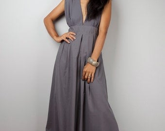 Grey Dress, Bridesmaid dress, Gray maxi dress, Long grey dress : Oriental Secrets Collection II