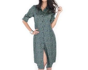 Long Shirt Dress / Long Shirt  / Women's shirt - Floral Shirt : Simply Touch  Collection No.4
